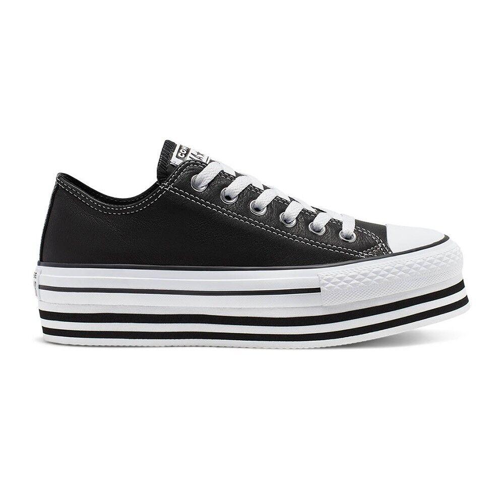 Converse Sneakers All Star Eva Lift Ox Nero Bianco Donna EUR 38 / US 5.5