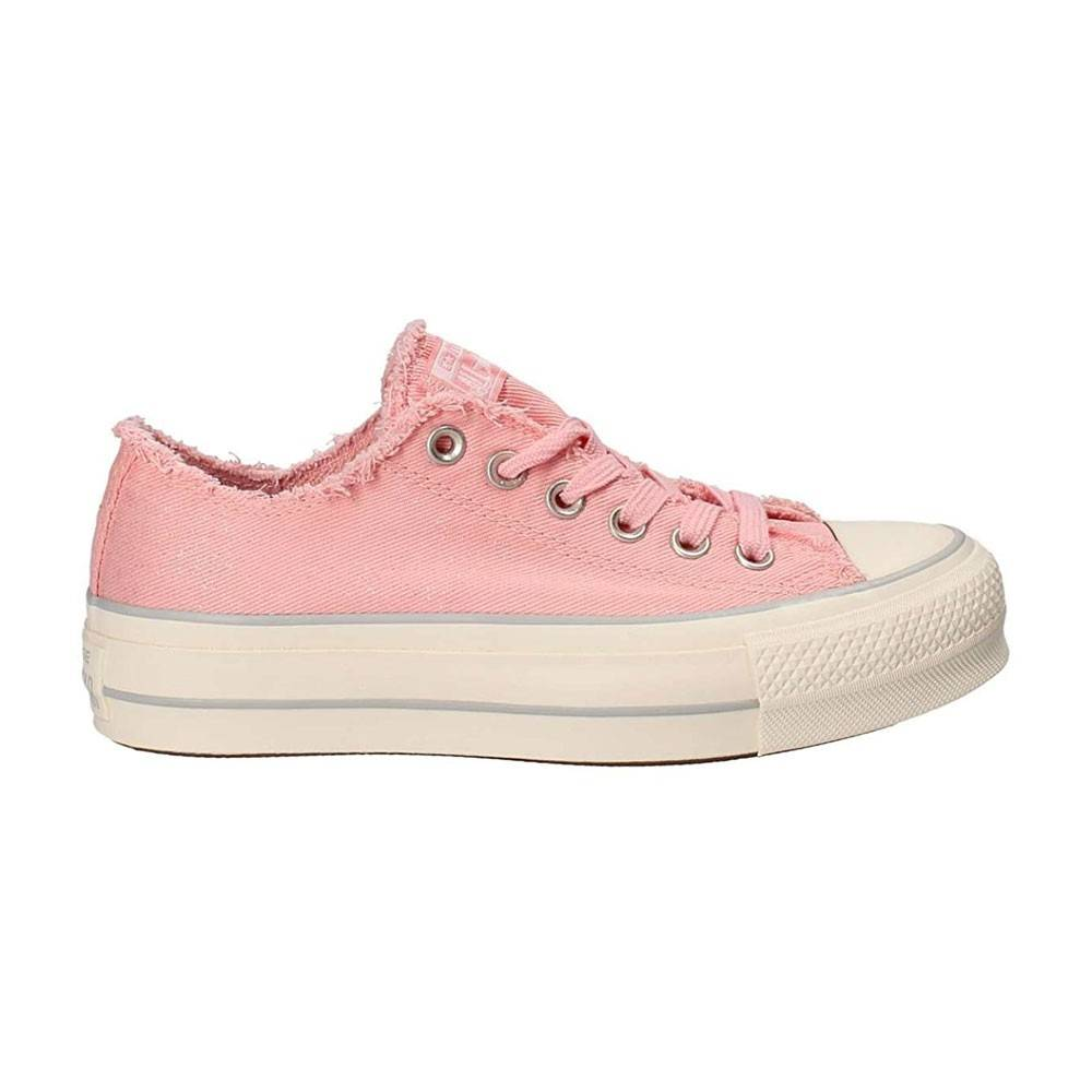 Converse Sneakers Canvas Frayed Ox Platform Rosa Donna EUR 37 / US 4.5