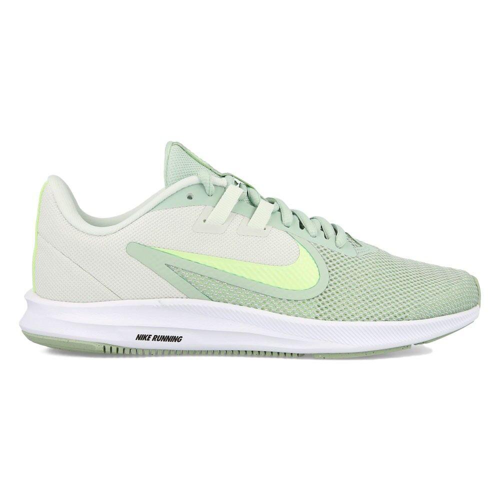 Nike Scarpe Running Downshifter 9 Verde Bianco Donna EUR 37,5 / US 6,5
