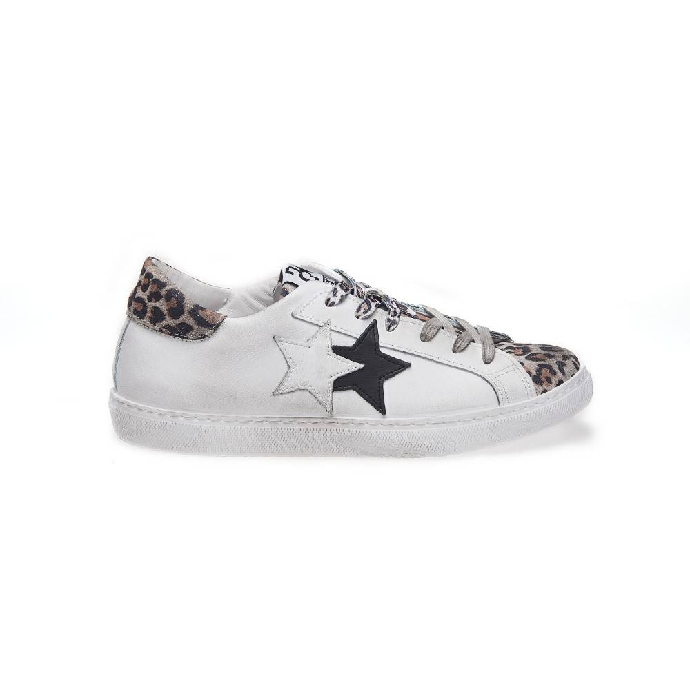 2Star Sneakers Low Lea Suede Bianco Maculato Donna EUR 41