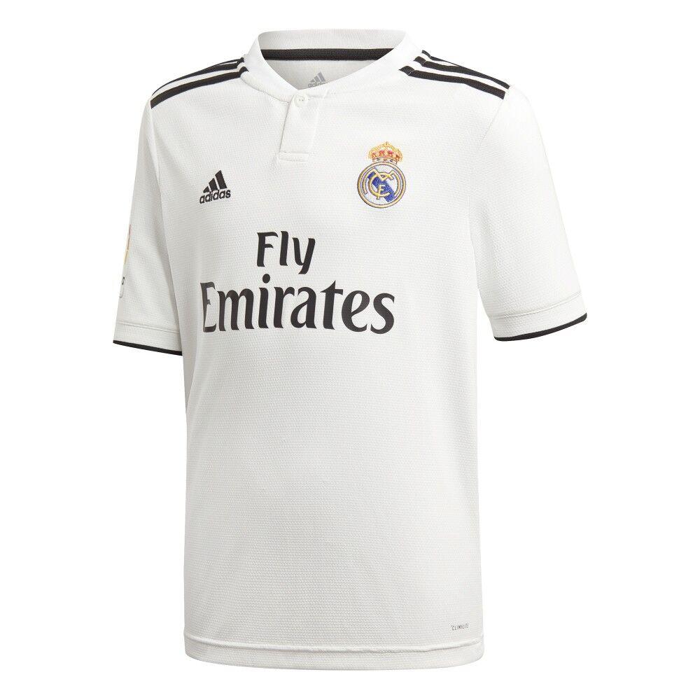ADIDAS t-shirt mm real madrid home bianco/nero bambino 15-16 A