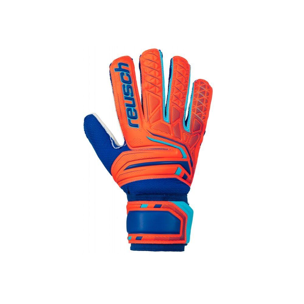 Reusch Guanti Calcio Attrakt Sd Arancio Blu Uomo 9.5 / L