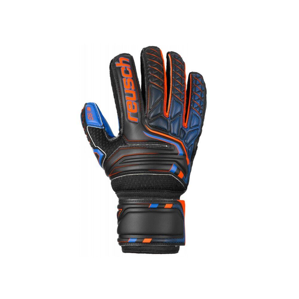 Reusch Guanti Calcio Attrakt Sg Extra Fs Nero Arancio Bambino 6,5 / XL / 18 cm