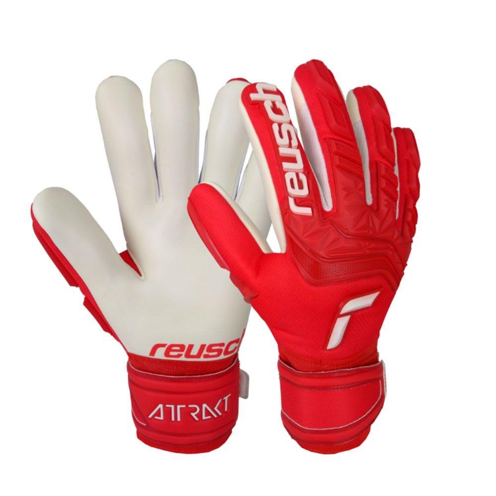 Reusch Guanti Calcio Attrakt Freegel Rosso Bianco Uomo 9.5 / L