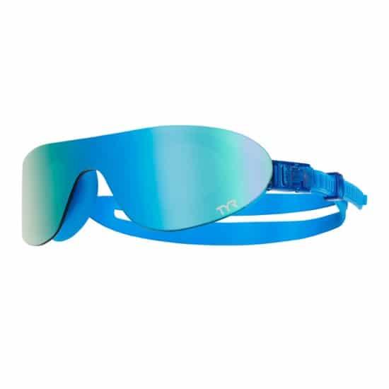 Tyr Swimshades Mirrored - Tipo di Lente: Specchiata Colore: Azzurro Taglia Occhialini nuoto: Regular