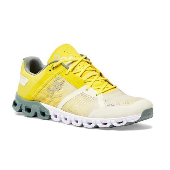 On Cloudflow Uomo - Taglia calzature: 41 Colore: Bianco/Giallo