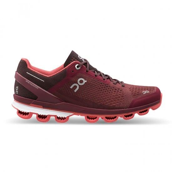 On Cloudsurfer Donna - Taglia calzature: 36,5 Colore: Bordeaux/Corallo