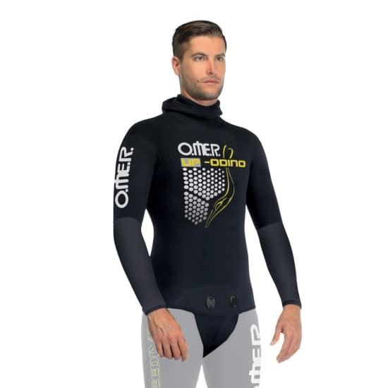 omer sub omer umberto pelizzari up-w8 giacca uomo odino 7 mm - colore: nero taglia neoprene: s