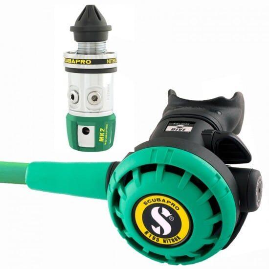 scubapro mk2 evo r195 nitrox - attacco erogatore: din m26 colore: verde