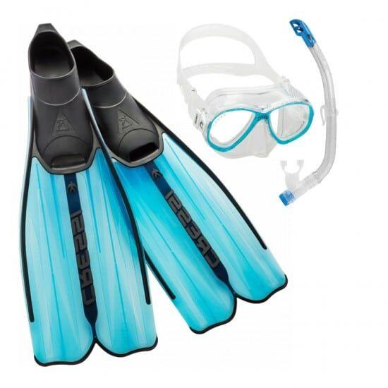 CRESSI SUB Cressi Set snorkeling perla con snorkel e pinne