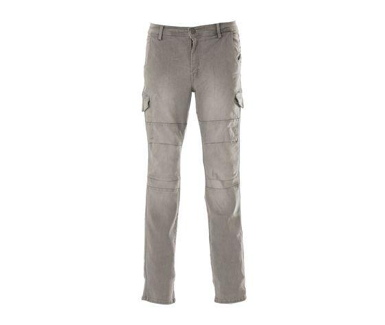 JAMES ROSS Pantalone Da Lavoro Uomo Jeans Multitasche Austin Grigio