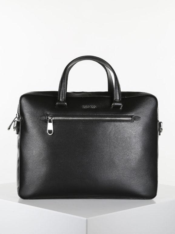 calvin klein minimalism slim borsa porta pc da lavoro porta pc unisex nero taglia unica