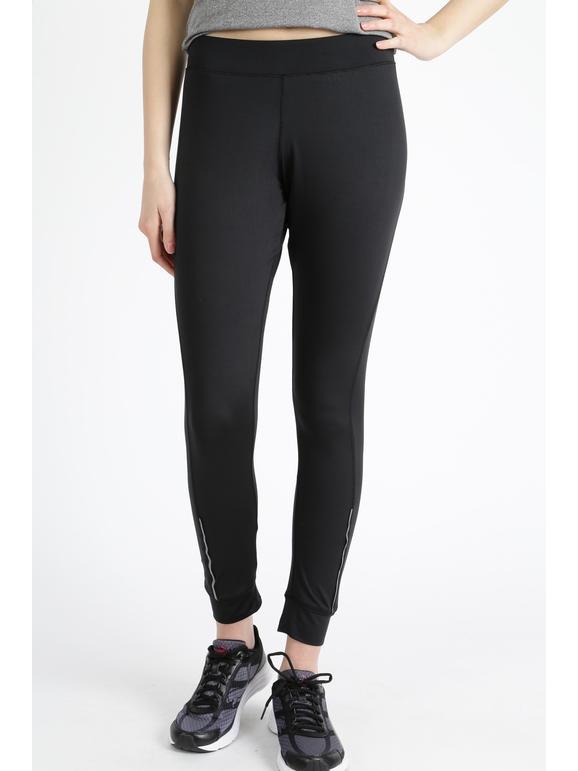 Athl Dpt Fuseaux termico Pantaloni e shorts donna Nero taglia L