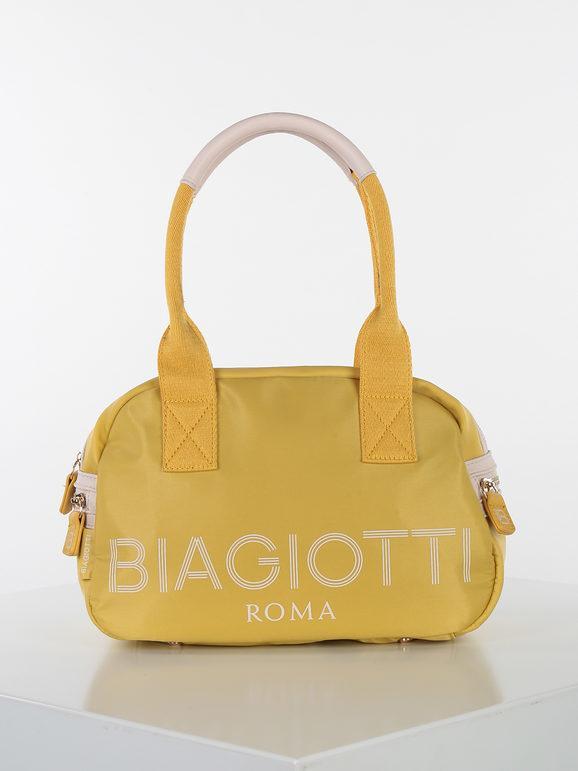 laura biagiotti bauletto in tessuto borse a mano donna giallo taglia unica