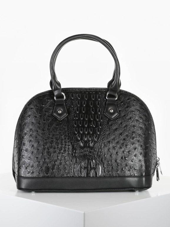solada borsa donna frame in ecopelle borse a mano donna nero taglia unica