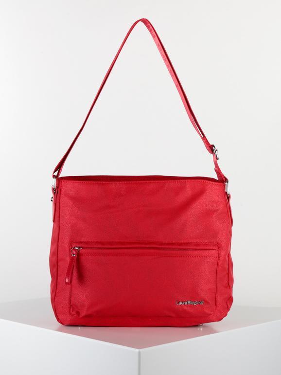 laura biagiotti borsa grande a tracolla in tessuto borse a tracolla donna rosso taglia unica