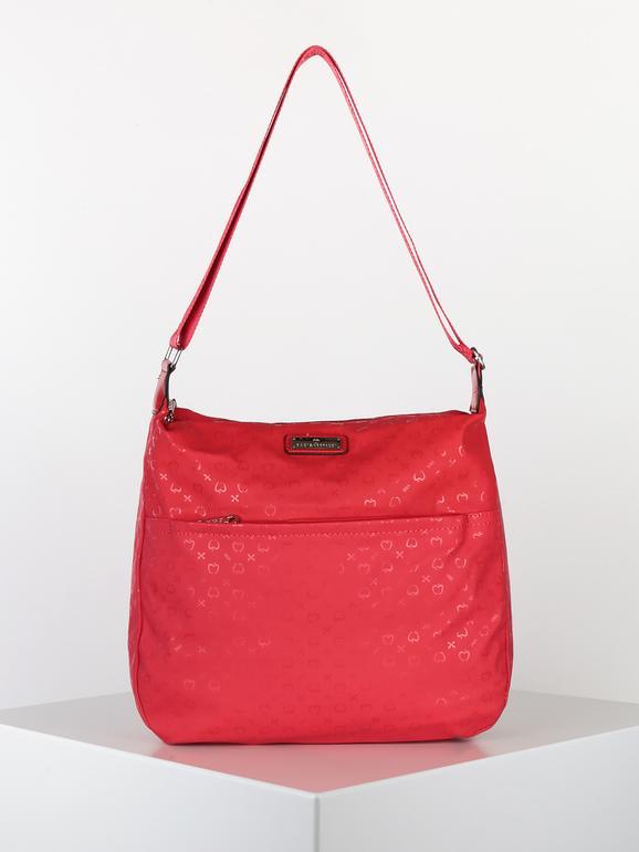 baci & abbracci borsa grande in tessuto con tracolla borse a tracolla donna rosso taglia unica