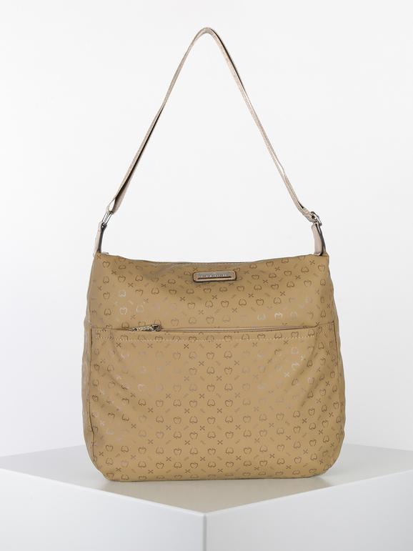 baci & abbracci borsa grande in tessuto con tracolla borse a tracolla donna beige taglia unica