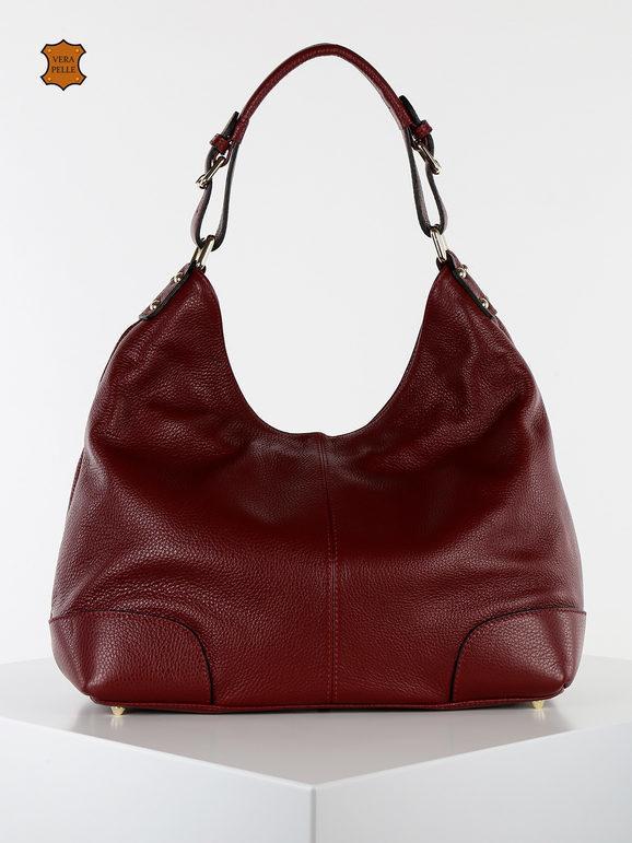solada borsa hobo di pelle borse in pelle donna rosso taglia unica
