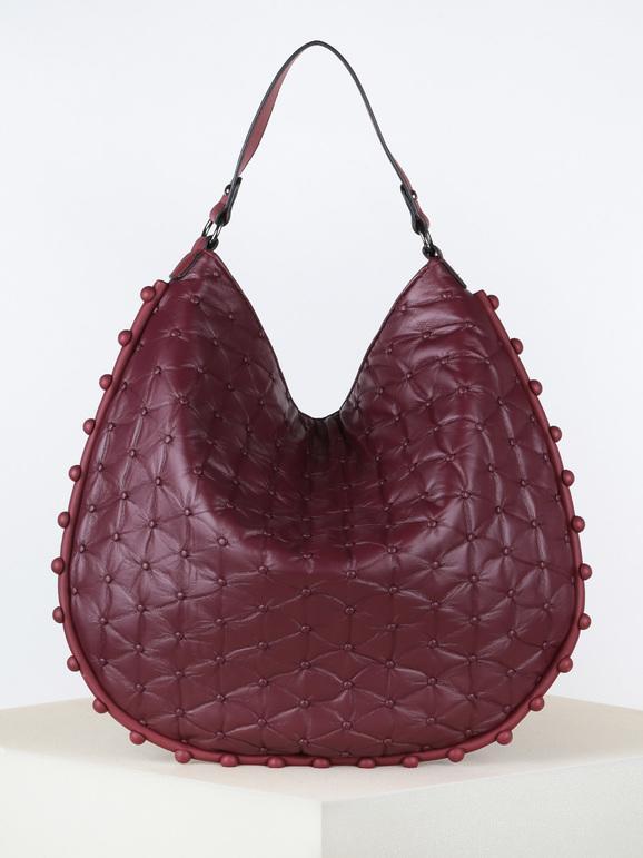 solada borsa hobo in ecopelle borse a spalla donna rosso taglia unica
