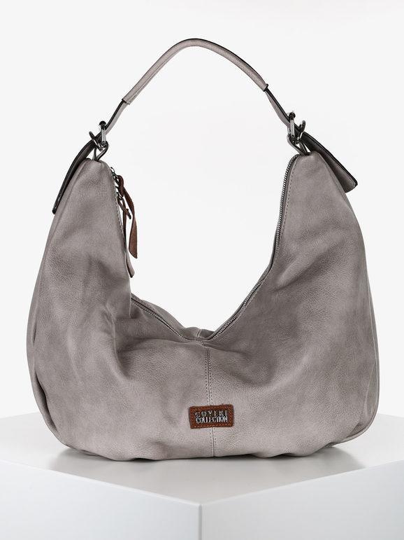 coveri borsa hobo in ecopelle borse a spalla donna grigio taglia unica
