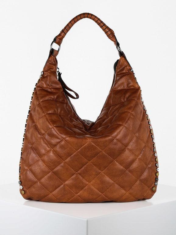 solada borsa hobo trapuntata borse a spalla donna marrone taglia unica