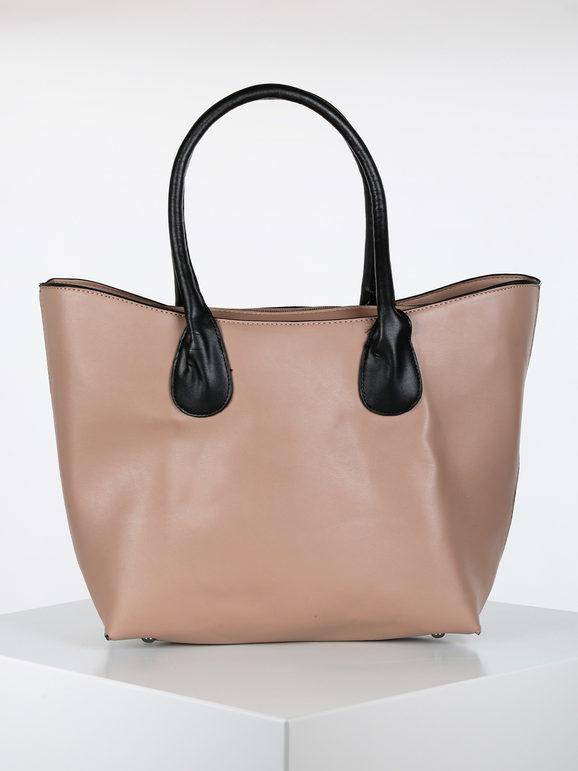 solada borsa in ecopelle borse a spalla donna beige taglia unica