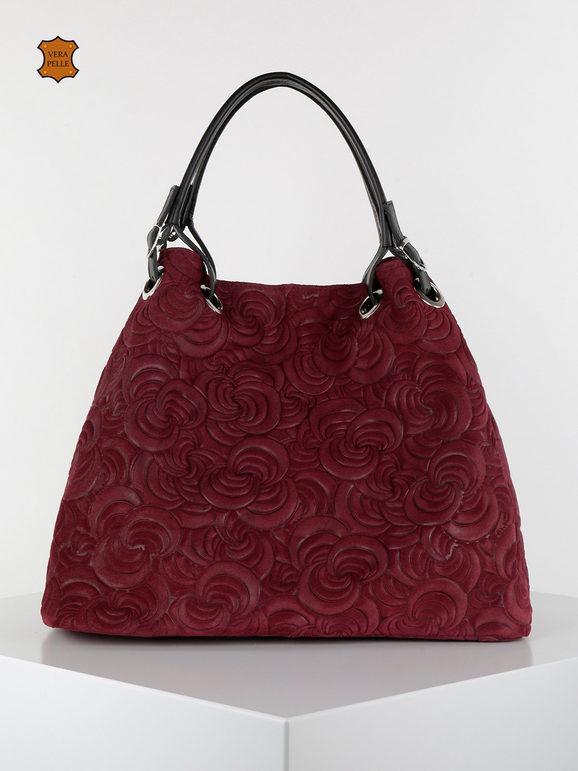 solada borsa in pelle grande borse a spalla donna rosso taglia unica