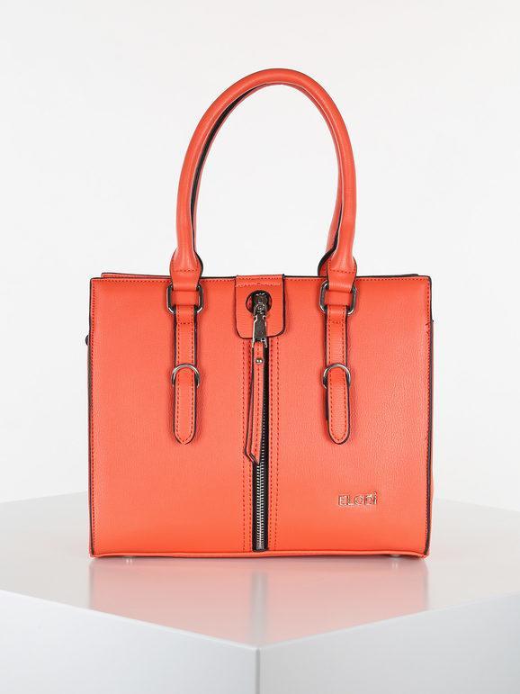 elodi' borsa rigida a bauletto borse a mano donna arancione taglia unica