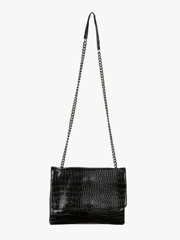 solada borsa tracolla effetto coccodrillo borse a tracolla donna nero taglia unica