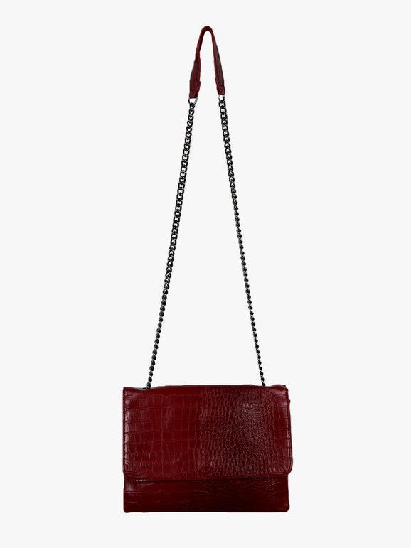 solada borsa tracolla effetto coccodrillo borse a tracolla donna rosso taglia unica