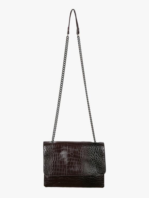 solada borsa tracolla effetto coccodrillo borse a tracolla donna marrone taglia unica