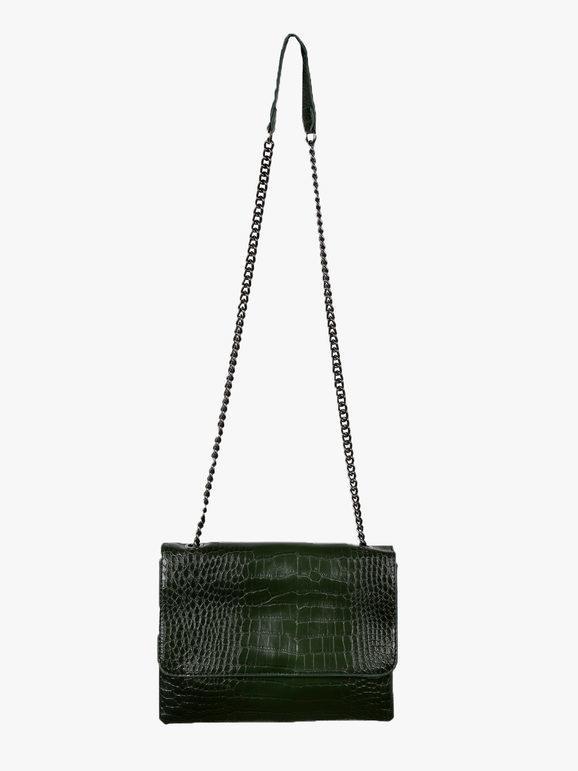 solada borsa tracolla effetto coccodrillo borse a tracolla donna verde taglia unica