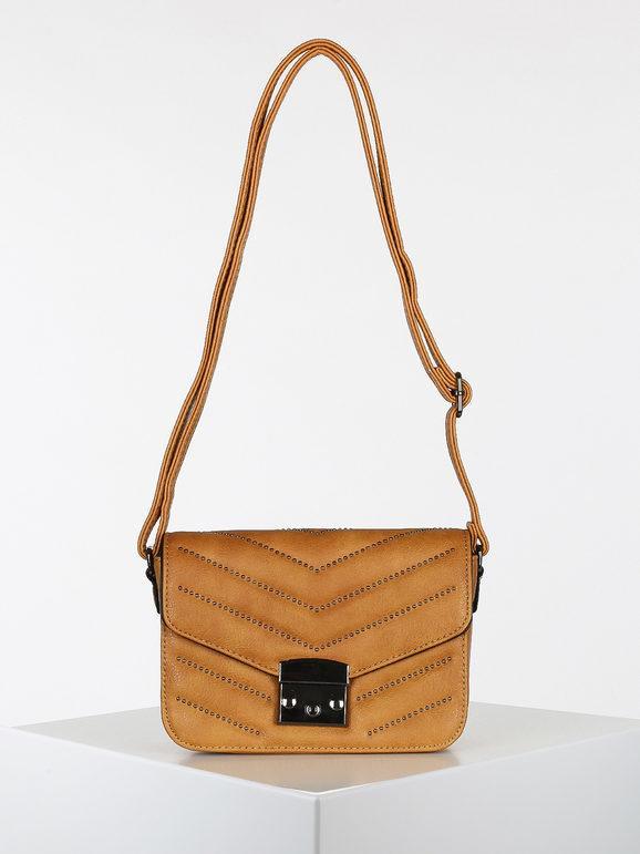 solada borsetta a tracolla rigida con borchie borse a tracolla donna giallo taglia unica