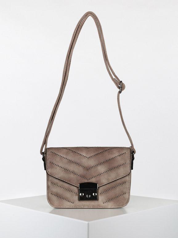 solada borsetta a tracolla rigida con borchie borse a tracolla donna marrone taglia unica