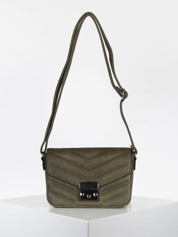 solada borsetta a tracolla rigida con borchie borse a tracolla donna verde taglia unica