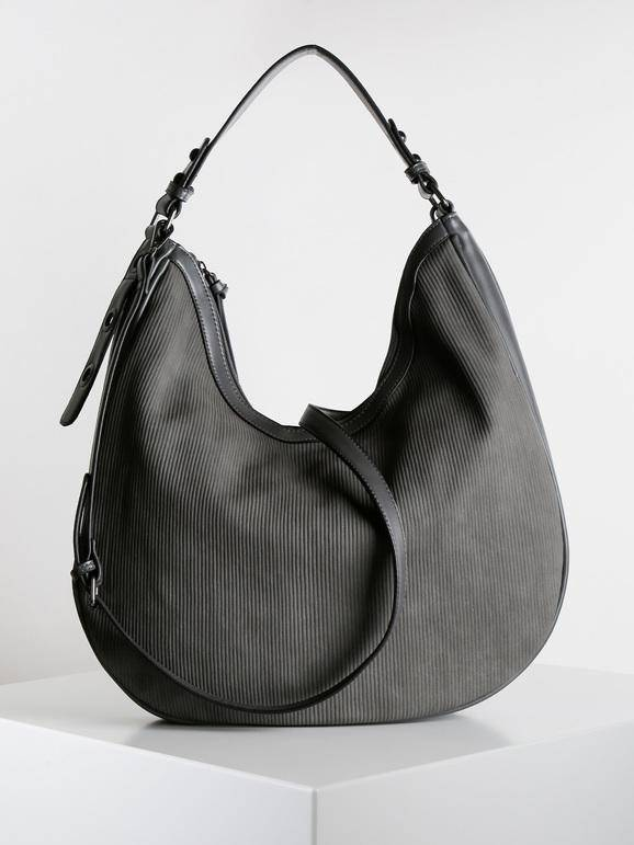solada hobo bag in ecopelle borse a spalla donna grigio taglia unica