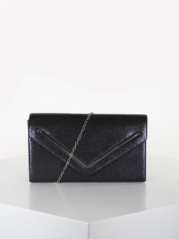 valentina pochette donna elegante rigida pochette donna blu taglia unica