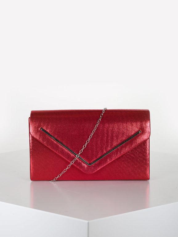 valentina pochette donna elegante rigida pochette donna rosso taglia unica