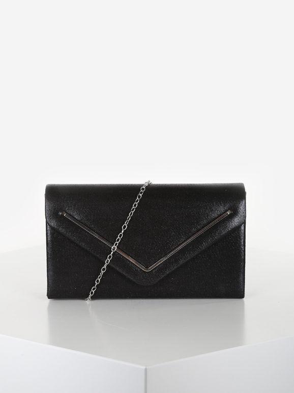 valentina pochette donna elegante rigida pochette donna nero taglia unica