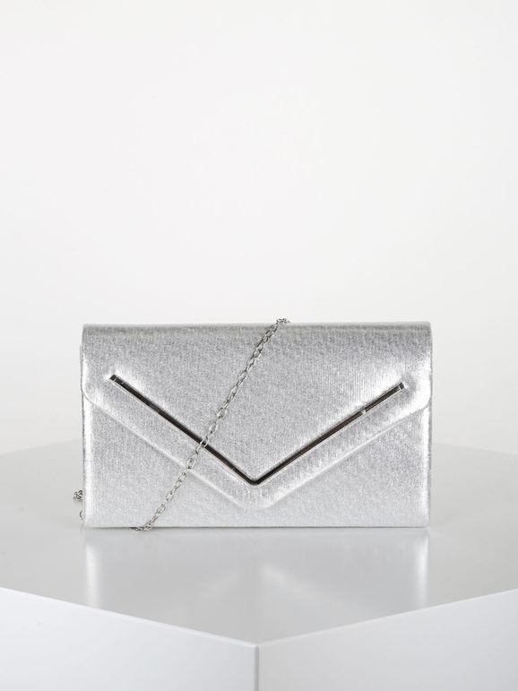 valentina pochette donna elegante rigida pochette donna argento taglia unica