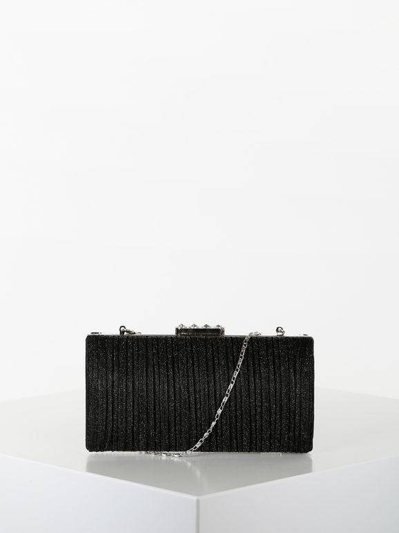 solada pochette elegante brillantinata pochette donna nero taglia unica