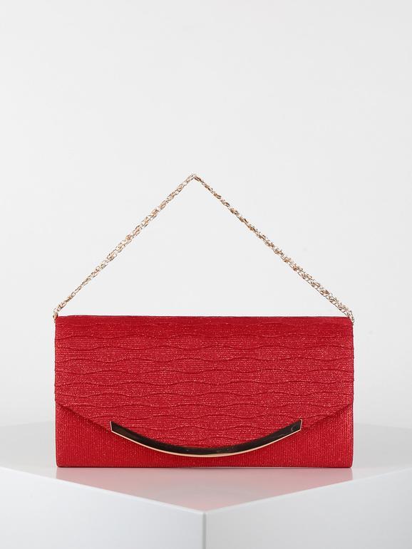 solada pochette elegante con brillantini borse donna rosso taglia unica