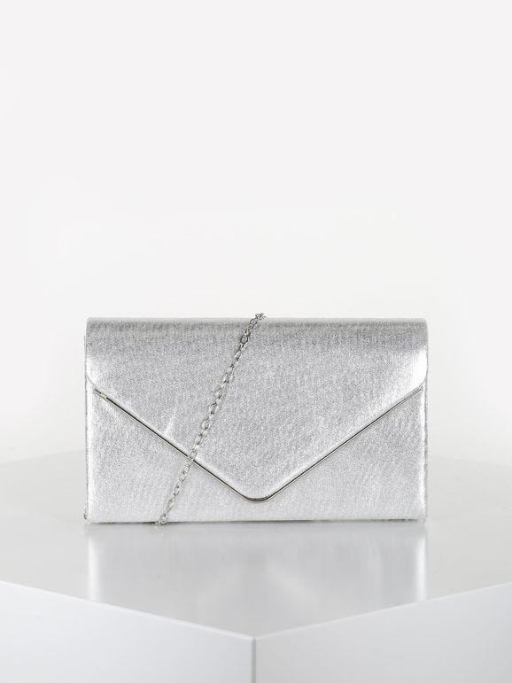 valentina pochette elegante rigida pochette donna argento taglia unica