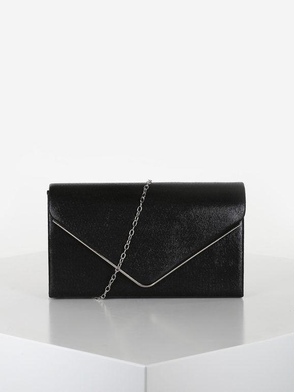valentina pochette elegante rigida pochette donna nero taglia unica