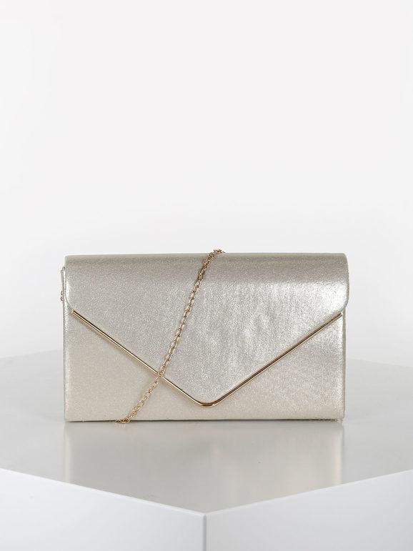 valentina pochette elegante rigida pochette donna oro taglia unica