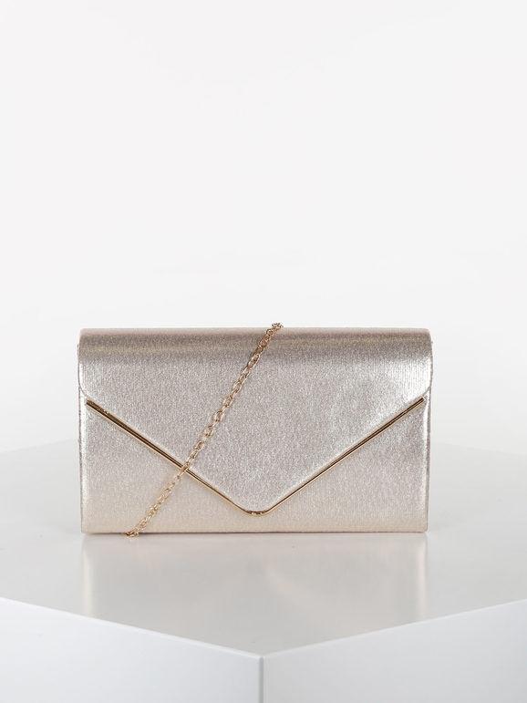 valentina pochette elegante rigida pochette donna beige taglia unica