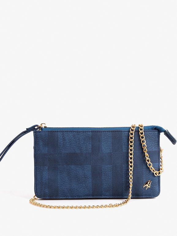 armata di mare pochette portafoglio tinta unita borse donna blu taglia unica