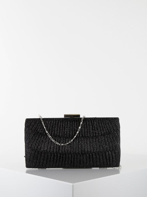 solada pochette rigida con catenella borse donna nero taglia unica