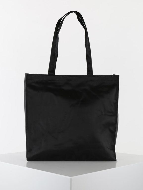 solada shopper in tessuto borse a spalla donna nero taglia unica